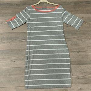 Grey Stripe cotton dress